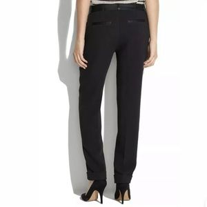 Madewell Ponte Knit Tuxedo Tapered Trouser Pants